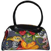 Inca Maiden Skulls and Roses Bag