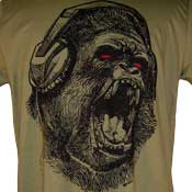 Gorilla In Headphones T-Shirt