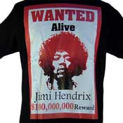 Jimi Hendrix Wanted Alive Shirt